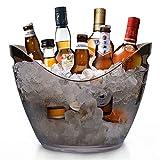 yobansa 8l acrylique grand seau à glace, seaux à champagne seau à champagne seau à vin, récipient