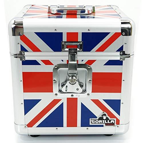 Gorilla 30,5cm LP Vinyl Record Aufbewahrungsbox Flight Carry Hülle hält 100Stück Union Jack–inkl. lebenslange Garantie