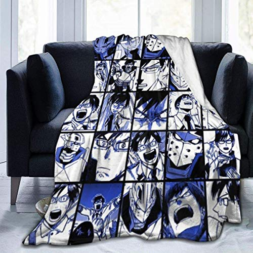 My Hero Academia Collage Anime BNHA Tamaki Amajiki Coperta in flanella ultra morbida copriletto in microfibra resistente, ideale per divano letto 127 x 101,6 cm