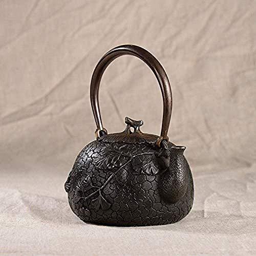 BINGFANG-W Conjuntos de té de café de hierro fundido de 1000 ml de hierro fundido olla manual de cera perdida método sin recubrimiento Salud Kung Fu Set de té negro
