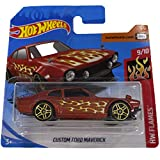 Hot Wheels Custom Ford Maverick HW Flames 9/10 2020 (142/250) Short Card