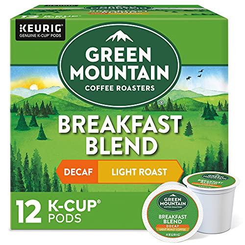 Green Mountain Keurig Decaf Coffee Breakfast Blend, 12 ct