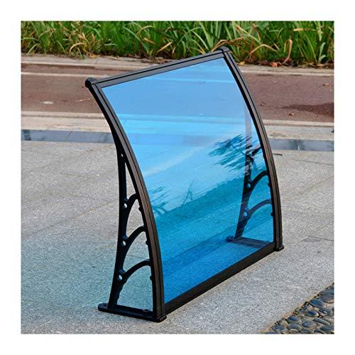 GuoWei Türdach Überdachung, Dachbalkon Verdicken Blau PC Endurance Board Cover, Außenabdeckung Tür Fenster Garten Baldachin, (Color : Blue, Size : 60x60cm)