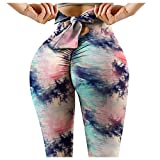QINFUNI Women's High Waisted Yoga Pants Leggings Tummy Control Booty Running Butt Lift Tights(A-Green,S)