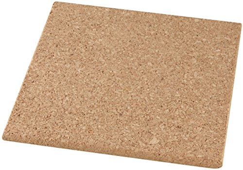 Fackelmann 30992 Dessous-de-Plat carrée 19x19cm en liège, Marron, 19 x 19 x 1 cm