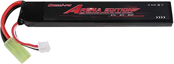 YUNIQUE Espagne® Arena versión 3S 11.1V 20C Airsoft 1300mAh Lipo batería con Conector Mini Tamiya Airsoft Guns M4, Crane Stock, M110, SR25, AK47, MP5K, MP5, Scar, M249