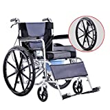 HDGZ Rolling Shower Wheelchairs with Commode, Folding Mobility Device for Tight Indoor Transporation
