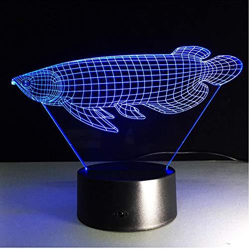 Nachtlampje dier gouden vis 3D LED usb lamp stemming kleurrijke wissellamp oceaan stijl slaapkamer huis rekwisieten gadget decoratie acryl tablet touch switch