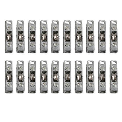 BQLZR Rueda deslizante tipo H con rodamiento de 12 mm para armario, armario, puerta, paquete de 20