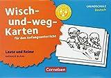 Wisch-und-weg-Karten für den Anfangsunterricht - Deutsch: Laute und Reime (3. Auflage): Mit der Kritzelbande einfach üben. 32 Bildkarten mit Begleitheft