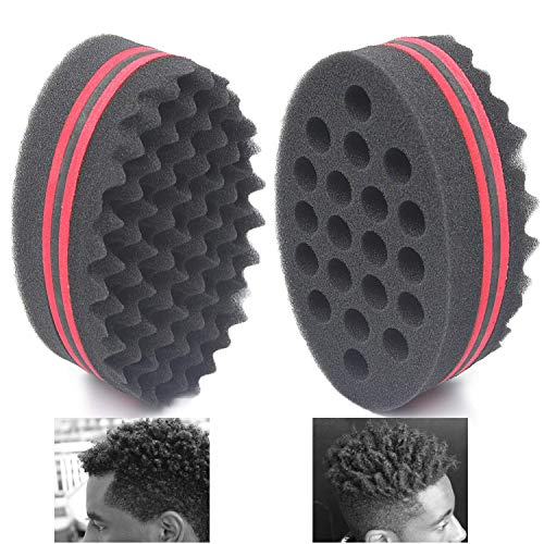 AIR TREE Big Holes Magic Barber Sponge Brush Twist Hair For Wave,Dreadlock,Coils,Afro Curl As Hair Care Tool 7 & 16 Mm Hole Diameter Suitable For Curly Hair (1 PCS)