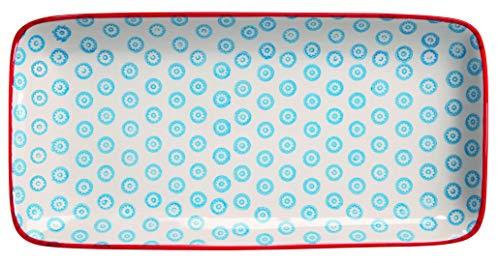 Bloomingville Servierplatte Emma, blau