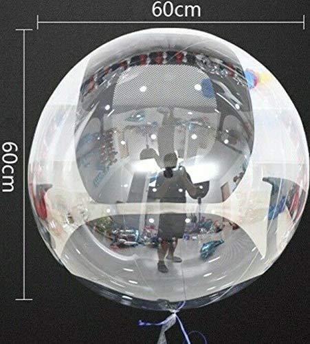 SauParty 3 Stück XXL 60cm Helium Bubble Ballons Klare Luftballons Kugelrund Hochzeit Deko