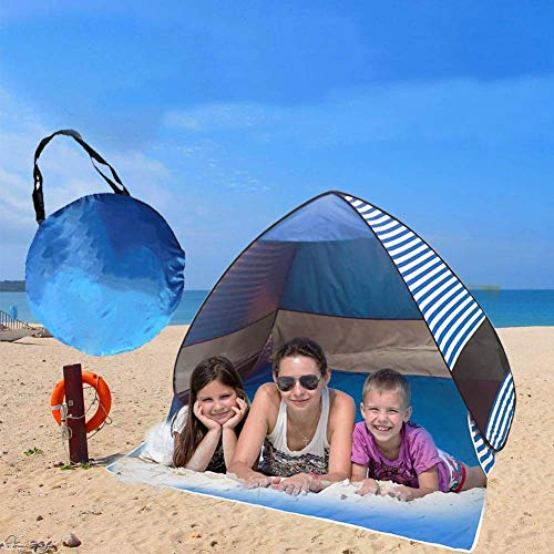 ZEH Automatic Pop Up Beach Tent, Portable Sport Shelter Sun Shelter Instant Anti UV Canopy Sun Shade for Family Kids Baby Outdoor Camping Fishing FACAI