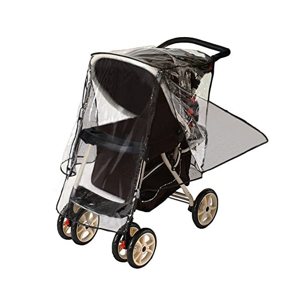 Jeep J90106 Rain Cover for Pushchair with Pouch Jeep Accommodates most stroller makes and models Helps protect child from rain, snow, wind and cold weather Netting on both sides, with snap closures, provides plenty of ventilation 5