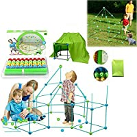 Kids Construction Fortress Building kit, Fun Forts Fort Building Kit For Kids, Building Toys Play Tent Indoor and Outdoor Playhouse for Kids Construction Toys