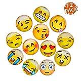 Lesfit 12 Stücke Emoji Magnete Kühlschrankmagnete Magnete Kinder 3D Witzig für Whiteboard...