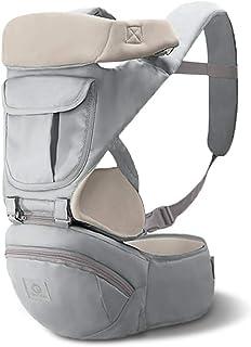 SONARIN 3 en 1 Multifuncional Hipseat Baby Carrier, Portador de bebé,Sling frontal para bebés,Ergonómica,Todas las estaciones,100% GARANTIZADO y ENTREGA GRATUITA, Ideal Regalo(Gris)