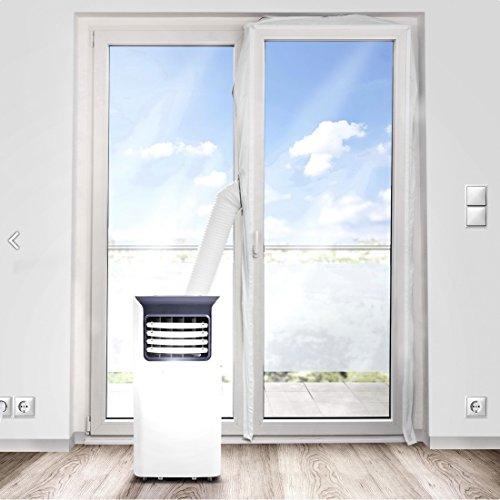 Eycos AL3000 Fensterabdichtung für Abschluftschlauch von Klimageräten, Airlock für große Fenstergrößen, geeignet für Fenster Maximalumlauf von 560cm