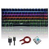 FELICON AK33 Tastiera Meccanica Gaming, Black Switches Tastiera da Gioco retroilluminata a...