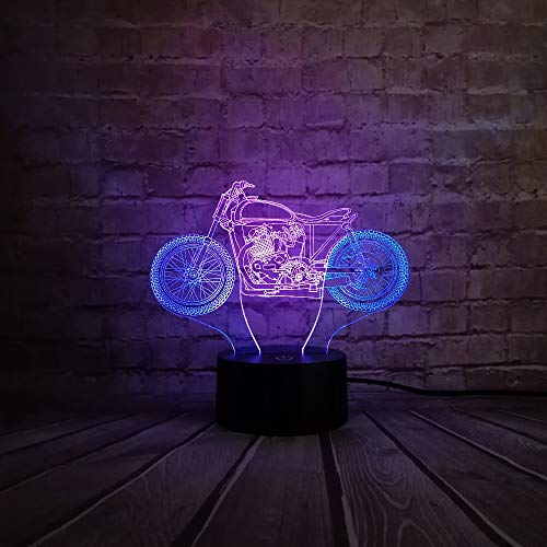 LED Nachtlichter 3D Illusion Nachttischlampe 7 Farben Wechselnde Schlafbeleuchtung mit Touch-Taste Nettes Geschenk Erwärmungsgeschenk Ideale Kunst und Handwerk Halloween-Geschenk