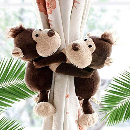 Holdback Vorhanggurte, Kinderzimmer Dekoration Zubehör, Dschungel Wald Tiere Vorhang Raffhalter, Vorhang Clips 2St, Haken Tie Backs - 2