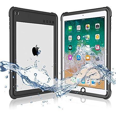iPad 2017/2018 防水ケース 9.7インチ ipadカバー2018 ipad air2 防水ケース IP68 防水規格 軽量 薄型 耐衝撃 水場 全面保護 安心感 スタンド機能付き ストラップ付き スタンド機能 アウトドア お風呂 プール A1893 A1954 A1822 A1823適用