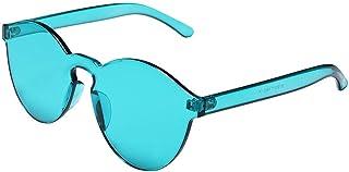 09a725d052 YHMC Gafas De Sol Transparentes De Una Pieza De Color Transparente Color De  Caramelo De Moda
