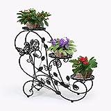 3 HLC maceteros de metal cultivadores escalera para flores, en forma de escalera
