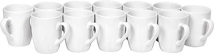 VBS Großhandelspackung 12 Kaffee-Becher Pot Tasse ø 8,5cm H 9,5cm Keramik Tassen weiß Rohling Tee-Tasse Cup preisvergleich bei geschirr-verleih.eu