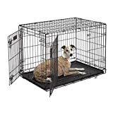 MidWest iCrate Double-Door Folding Metal Dog Crate, 36 Inches by 23 Inches by 25 Inches
