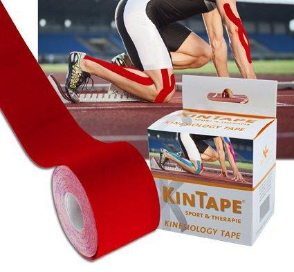 KK KinTape   Kinesiologie Tape   Verschiedene Farben   5 cm x 5 m (Rot)