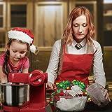 Demason 2 Stück Weihnachtsschürze Kochschürze Latzschürze mit Weihnachtsmann Küchenschürze/Grillschürze/BBQ Schürzen Weihnachtsgeschenk für Erwachsene und Kinder 58 cm x 71 cm - 7