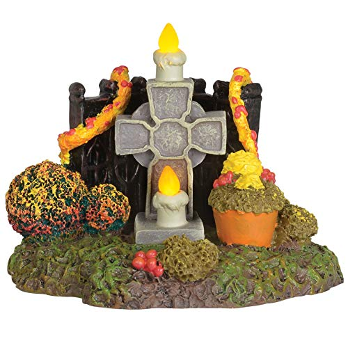 Department 56 Village Cross Product Accessories Halloween Day of The Dead Shrine Lit Figurine, 3 Inch, Multicolor,6003299
