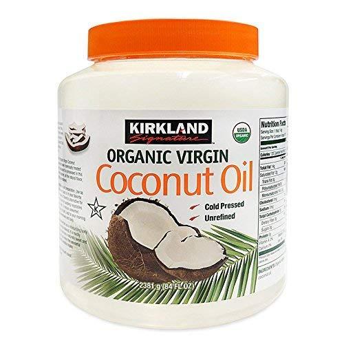 Kirkland Coconut Oil Unrefined Virgin Cold Pressed 100% Pure 2.38kg Tub