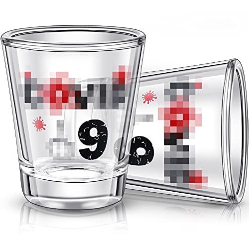 2 Bicchiere Divertente, Bicchiere da Vino Divertente per Donna Uomo Moglie Marito Fidanzato Mamma Sorella o Amici per la Laurea Compleanno Natale Festa dellIndipendenza Halloween 2 oz