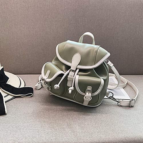 Einfache Art und Weise Frauen-Rucksack   Sommer-Neue PU-Material Damen Tasche Zwei Schultertasche Damenmode-Reisetasche White Tie Mode Damentasche, Grün
