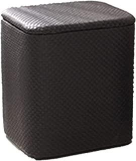 FSQY storage stool seat stools with lids change shoe stool finishing box leather art multi-functional sitting person modern minimalist bedroom living room 40cm 33cm 47cm black