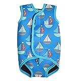 Splash About Baby Wrap Wetsuit Traje de Neopreno, Infantil, Azul (Barcos), 6-18 Meses