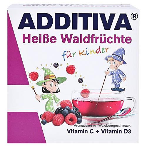 ADDITIVA Heiße Waldfrüchte für Kinder Vitamin C + Vitamin D3 Pulver, 100 g Pulver