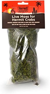 Flukers Live Moss for Hermit Crabs, 0.5-Ounce