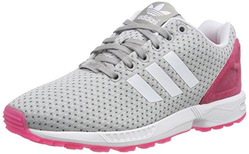 Adidas Zx Flux W Scarpe sportive, Donna, Grigio (Mgh Solid Grey/Ftwr White/Solar Pink), Taglia 36 2/3