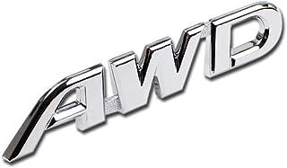 Generic AWD Logo Emblem Tailgate Side Sticker Badge Fit For Toyota Highlander AWD