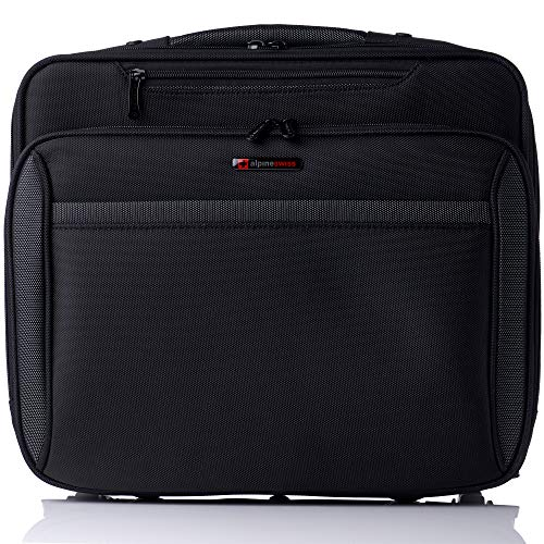 Alpine Swiss Rolling Laptop Briefcase Wheeled Overnight Carry on Bag Up to 15.6 Inches Notebook