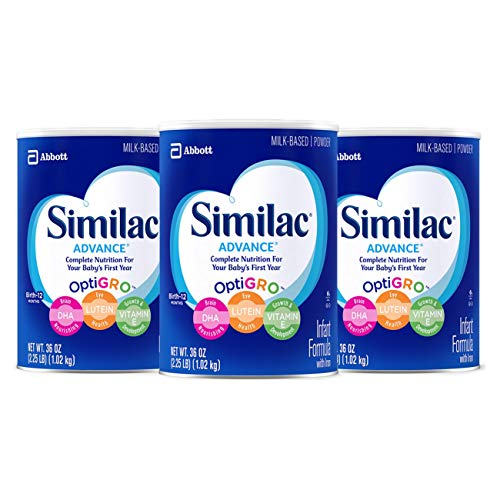 Similac Advance Infant Formula with Iron, Baby Formula 36 oz, 3 Count