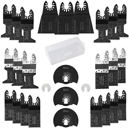 electrapick 28 Piezas Accesorios para Herramientas Oscilantes Multifunción Hojas de Sierra Bosch Dewalt Makita para Corte de metal/madera/azulejo/clavo