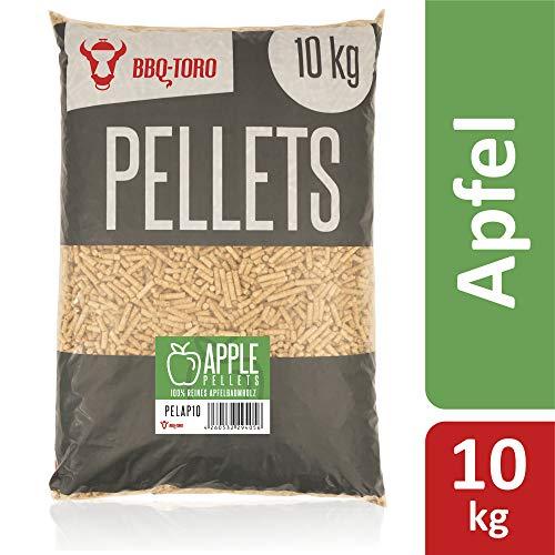 BBQ-Toro Apple Pellets aus 100% Apfelbaumholz (10 kg) | Apfelpellets für Grill, Smoker, Pellet-Pizzaofen und Heizungsanlagen | Grillpellets