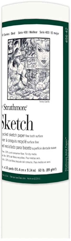 Strathmore ((456-42 400 Series Recycled Sketch Roll, Fine Tooth Surface, 36