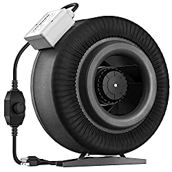 powerful VIVOSUN 8 inch duct fan 740ccm Ft / min, with speed controller for growth tent