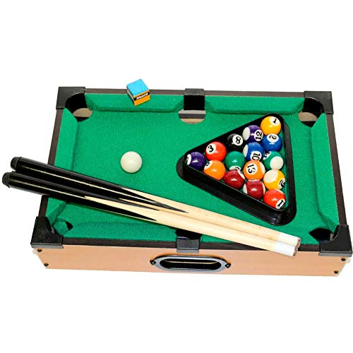 Mesa de Bilhar Mini Sinuca Snooker Portátil 31x51cm Completa com Tacos de Madeira e Bolas